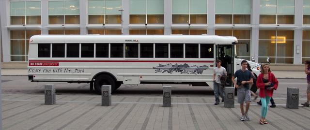 NCSU transport bus