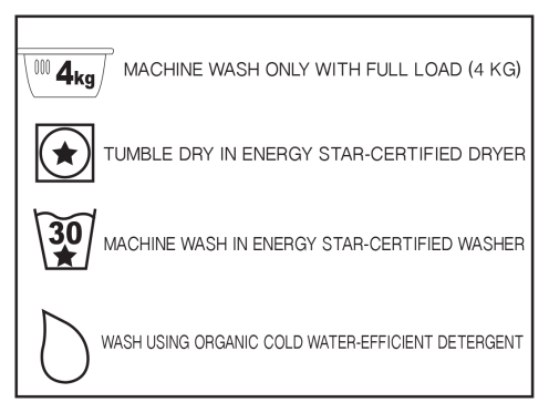 Labels for Sustainable Garment Care © Sophia Roces (Project Summary)