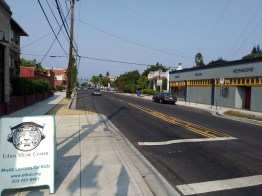Looking down North Killingsworth Street, you can see the change in amount of tree canopy.