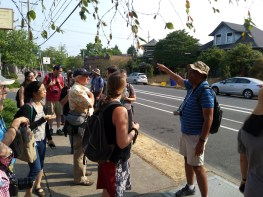 Charlie talks about how to focus the attention of your students on a variety of observations that can be made along the urban transect walk. Charlie explained that students tend to be very focused on the immediate conditions on the street, and need to be prompted to look laterally for signs of change.
