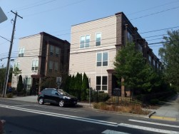 Typical higher-density housing as we moved towards the southern end of our North Williams Avenue transect. This building was one of the first new construction apartment complexes that we encountered.