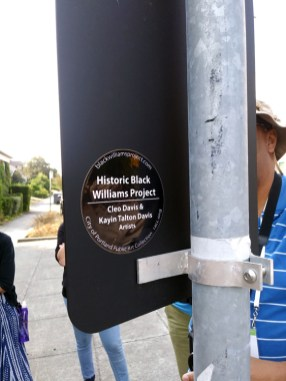 One of the only outward signs of North Williams Avenue's African American heritage were literally signs placed by the Historic Black Williams Project describing the community that used to live in the neighborhood.