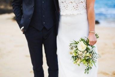 photo mariage plage saint jean Treboul