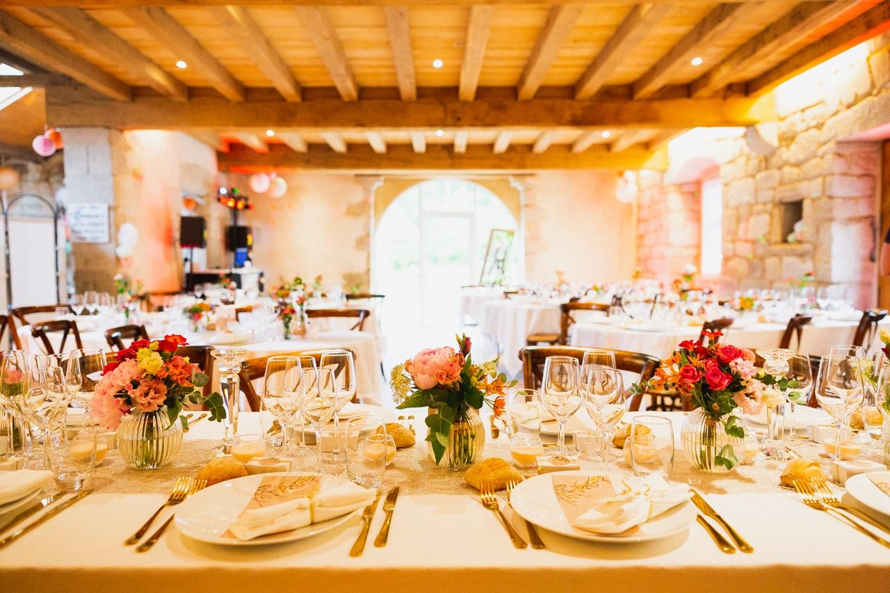repas de mariage au Clos de Trévannec