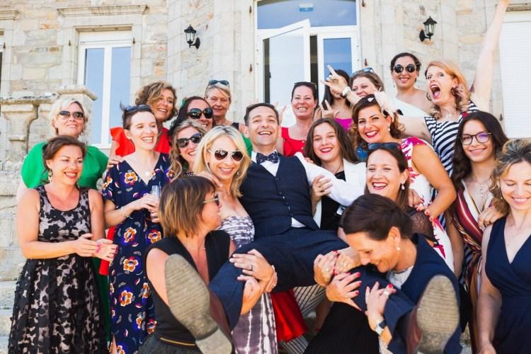 photo de groupe de mariage a quimper