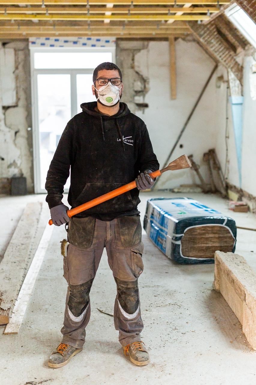 photo de chantier ligavan entreprise plogonnec