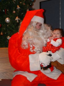 Her first picture with Santa.