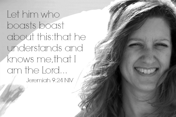 I write so you can brag that you know God and feel useful in his service. -christyfitzwater.com