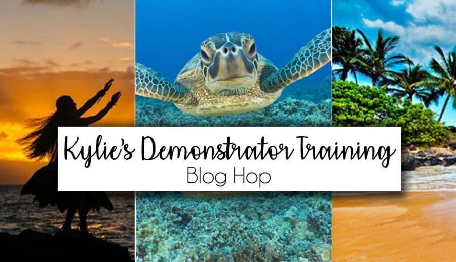 Kylie's Demonstrator Training Blog Hop banner