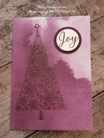 Snow is Glistening, Delightfully Detailed Note Cards, punches, rhinestones with a touch of Wink of Stella card.
