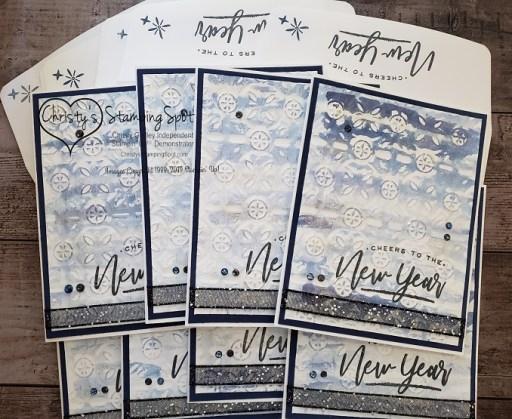 New Year Night of Navy Tin Tile RAK Card