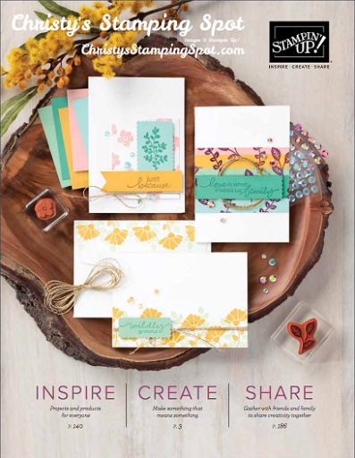 Link button to View and Download the Stampin' Up! 2020-2021 Annual Catalog PDF
