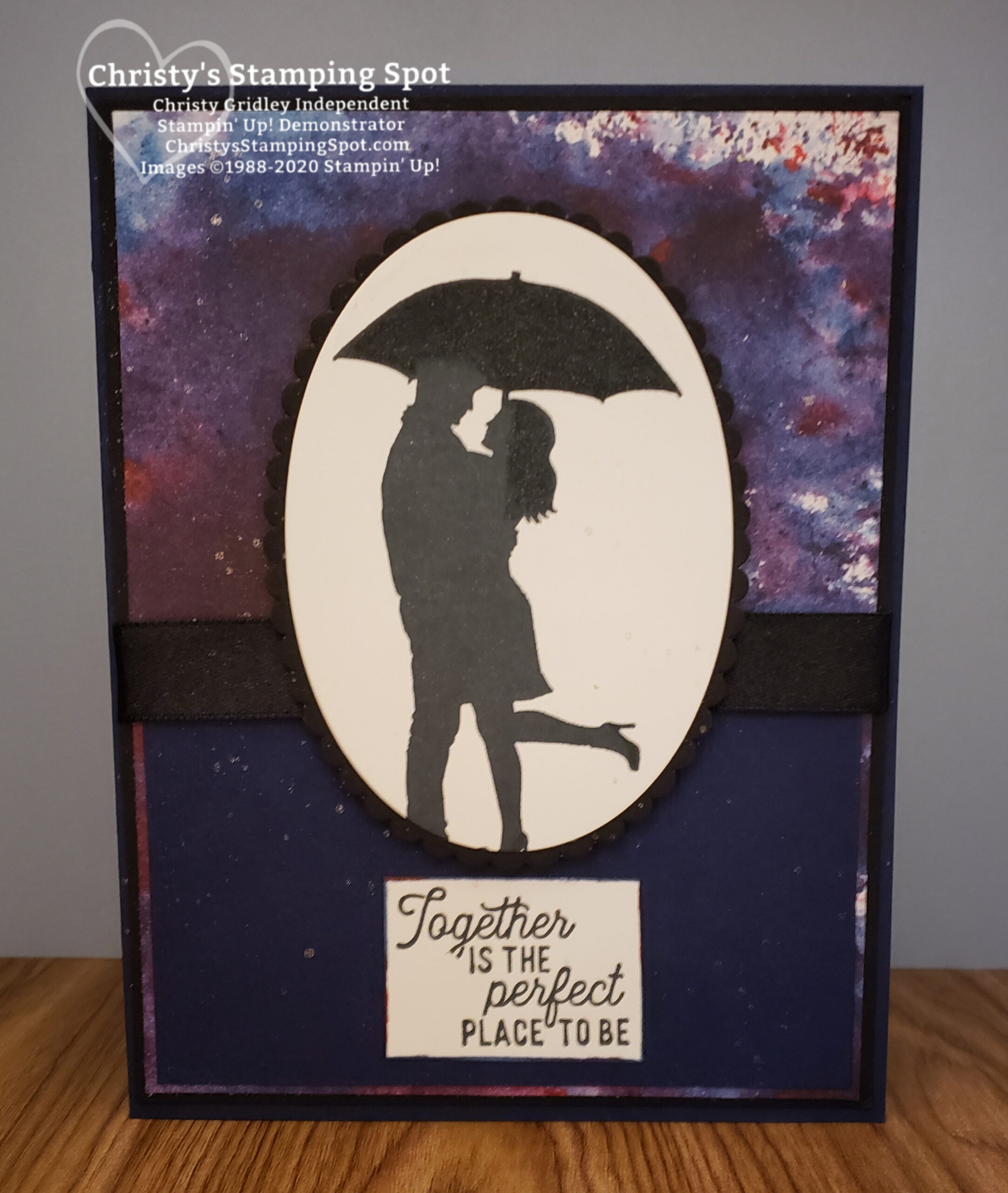 Stampin' Up! Silhouette Scenes, See A Silhouette DSP, Layering Ovals Dies. #SilhouetteScenes
