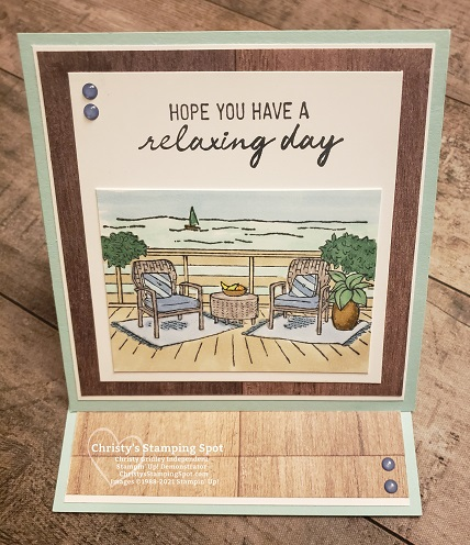 Stampin' Up! Seaside View stamp set and In Good Taste DSP #SeasideView #InGoodTasteDSP
