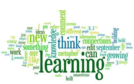 Learning, Growing, and Connecting tag cloud