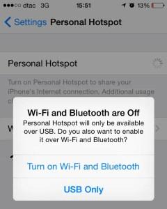 Instant Hotspot Activation