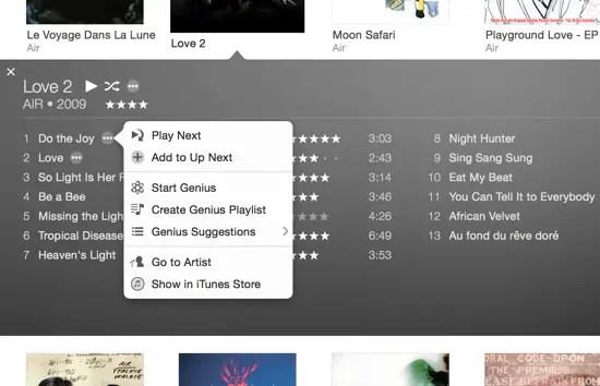 iTunes 12 Item View
