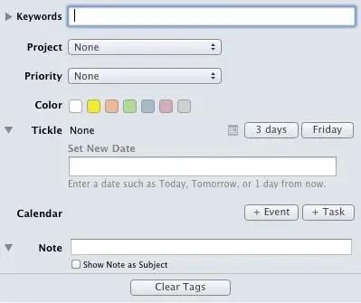 MailTags Screenshot