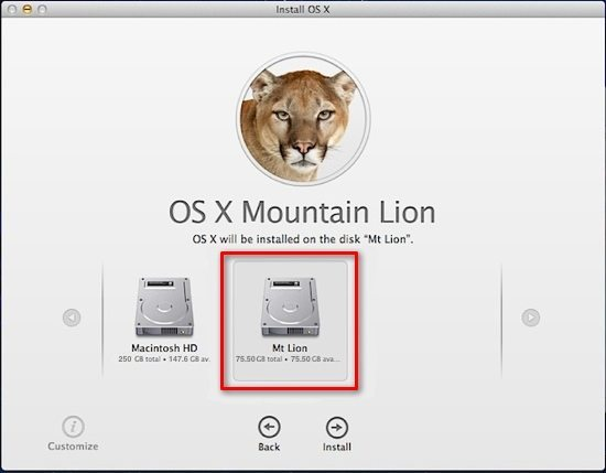 Step 2 - Install Mountain Lion