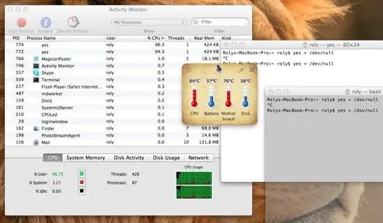 Temperature Screenshot