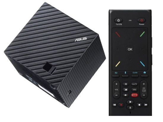 The Asus Qube has a great two-sided remote