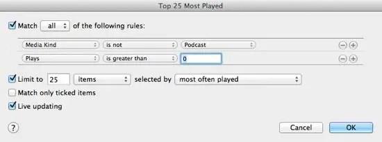 Top 25 Playlist Contents