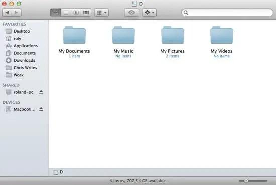 PC Folders Shared