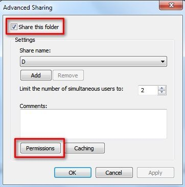 PC - Enable Sharing