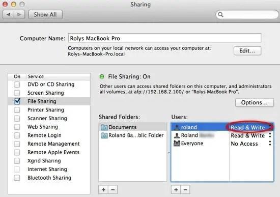 Set Folder Share Permissions
