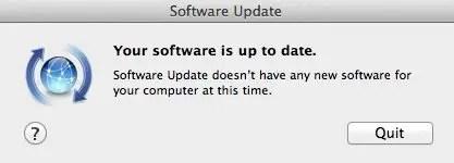 Software Update window