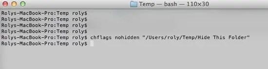 Unhide Folder