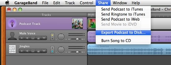 Export Podcast to Disk