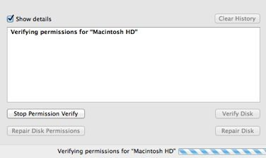 Verifying Disk Permissions