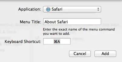 Create Custom shortcut screenshot