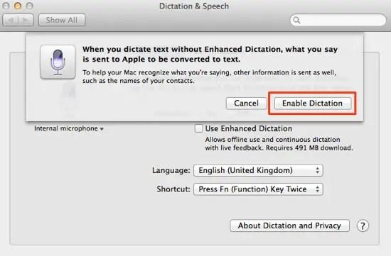 Confirm dictation