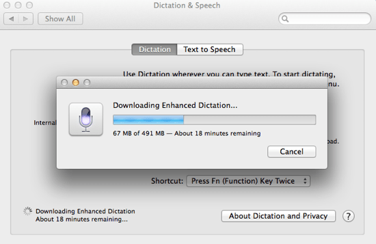 Download dictation