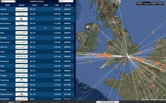 Arrivals and Departures Screenshot
