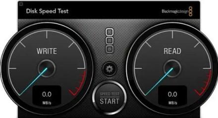 Blackmagic Speed Test Graphic