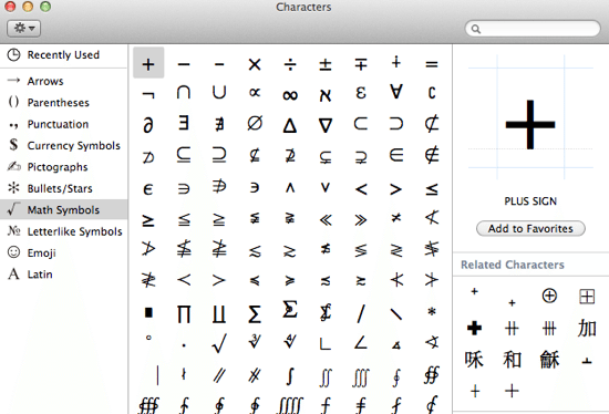 division sign on a mac keyboard