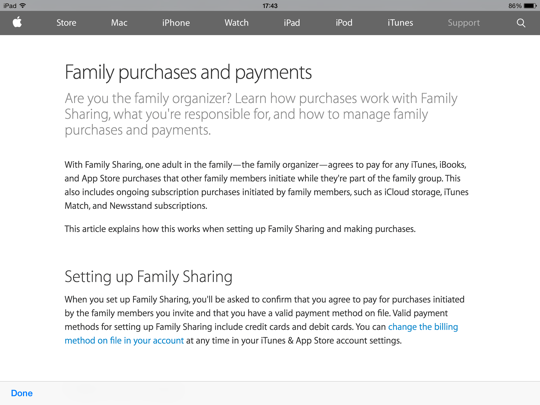 Family Sharing iOS - step 6