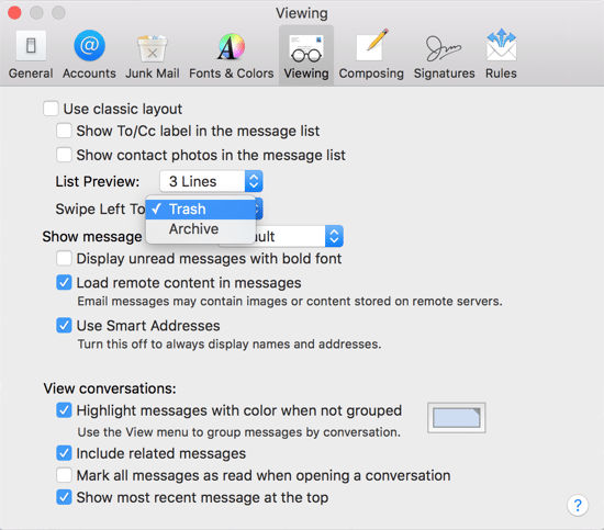 Image 3 - Mail - Preferences