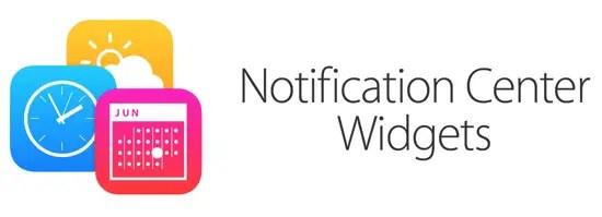 Notification Centre Widgets - Main Pic