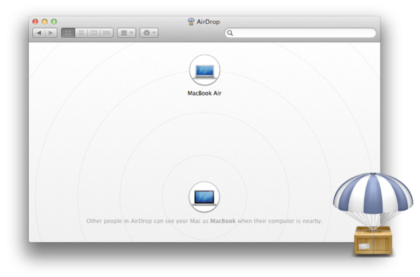 Airdrop Window MAc OS X Lion