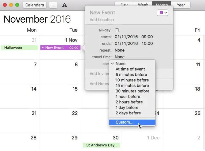 calendar-custom-alert