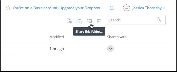 dropbox share folder
