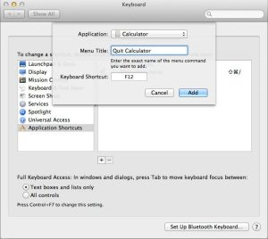Quit Apps, Application Shortcuts, Keyboard Preferences, OS X Lion