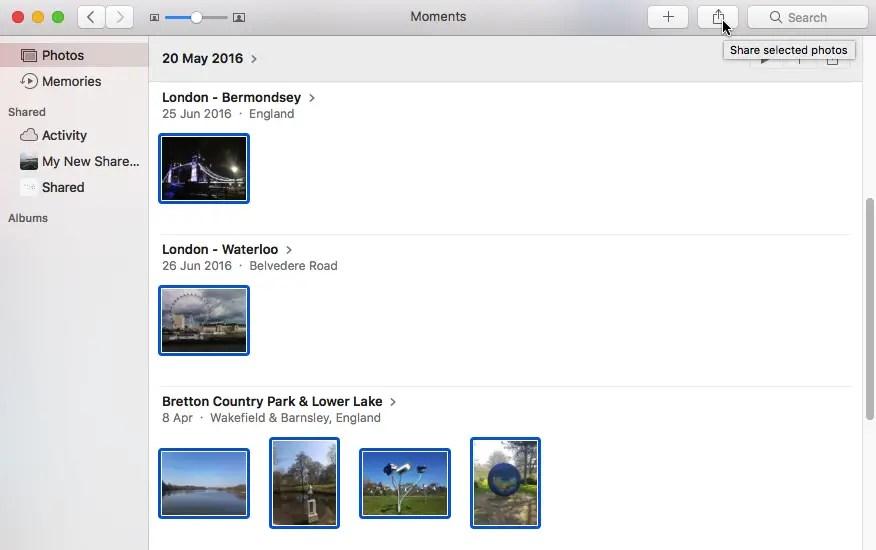 download icloud shared album to mac