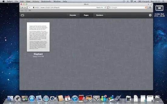 iCloud - iWord document