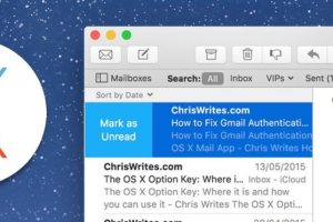 Mail in OS X El Capitan