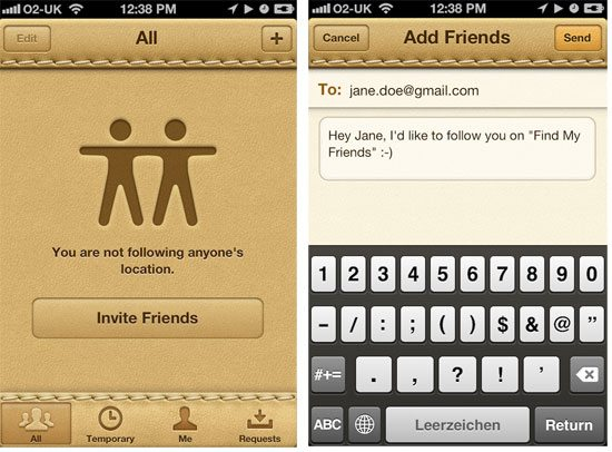 Find my Friends - Sign in and Invite